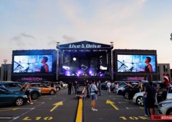 """На парковке Лужников прошел концерт группы The Hatters в формате """"drive-in"""""""